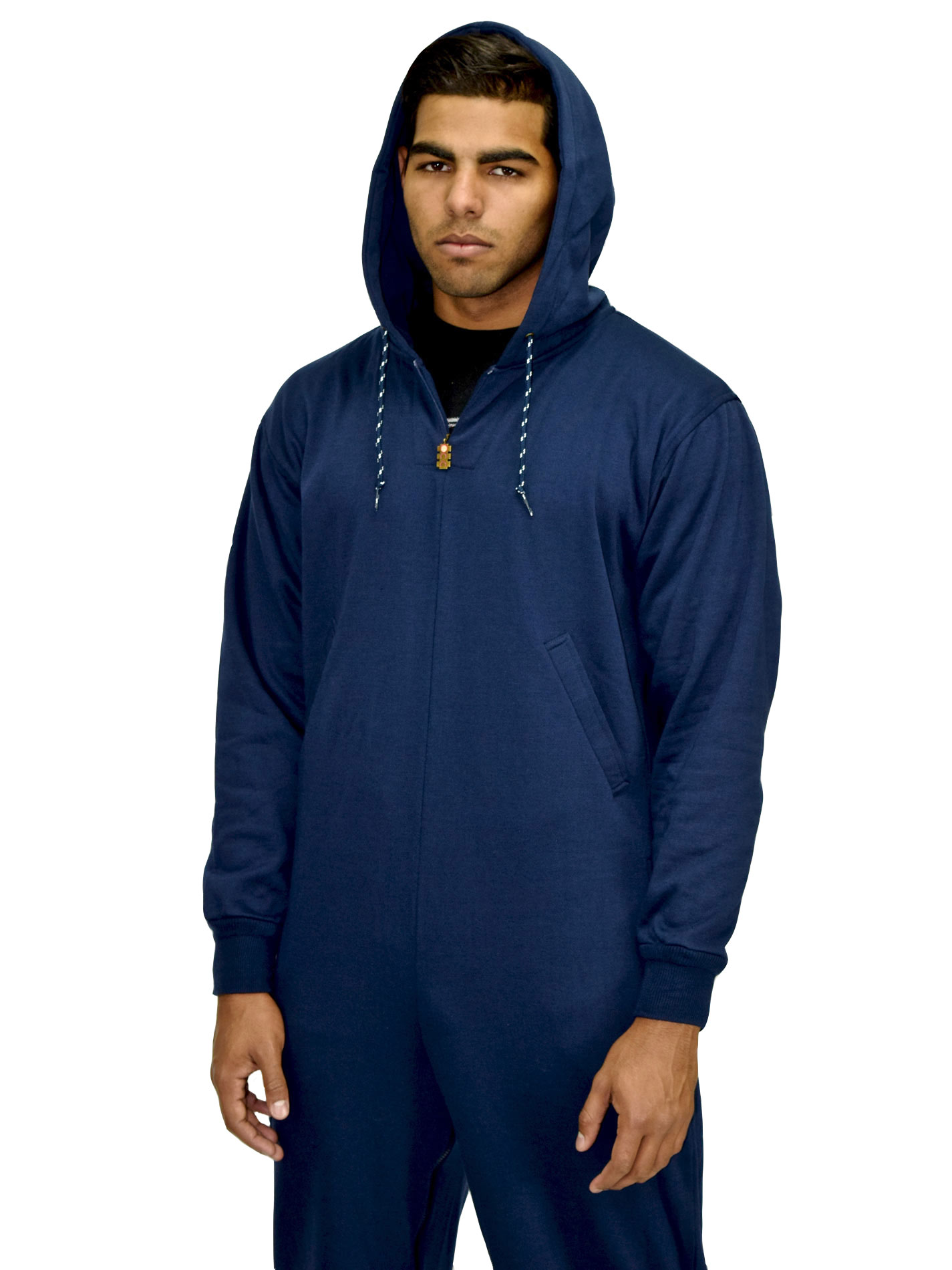 54518a27140 ROR - BEARHUG MEN S HOODIE JUMPSUIT - POLY FLEECE - INK BLUE - ACID ...
