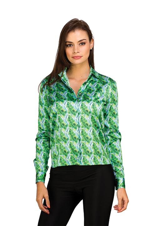 e3ecdbdf4f478 ACID NYC - DION BLOUSE - SILK - PLANT CELL - ACID NYC Clothing
